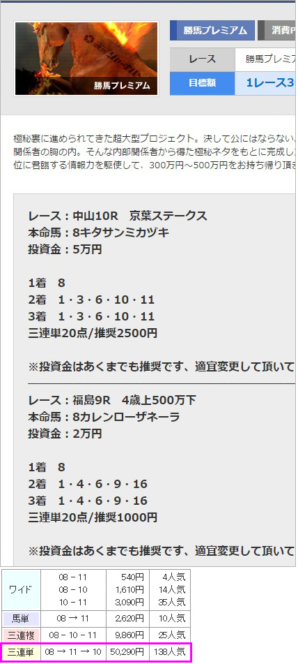 競馬ジャーナル有料情報