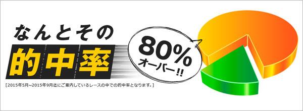 80%オーバー