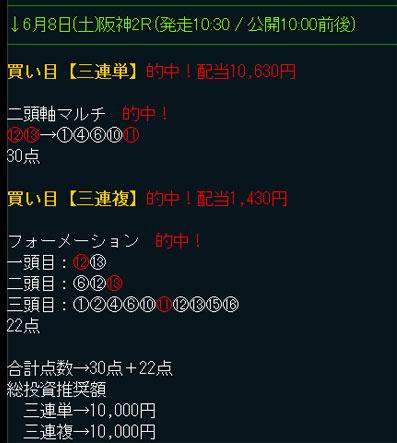 """ダイヤモンド競馬の無料予想6/8"""""""