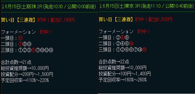 """ダイヤモンド競馬の無料予想6/15"""""""