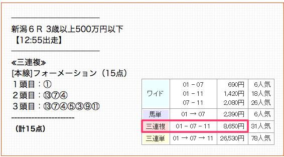 トライキャスト10/5無料情報